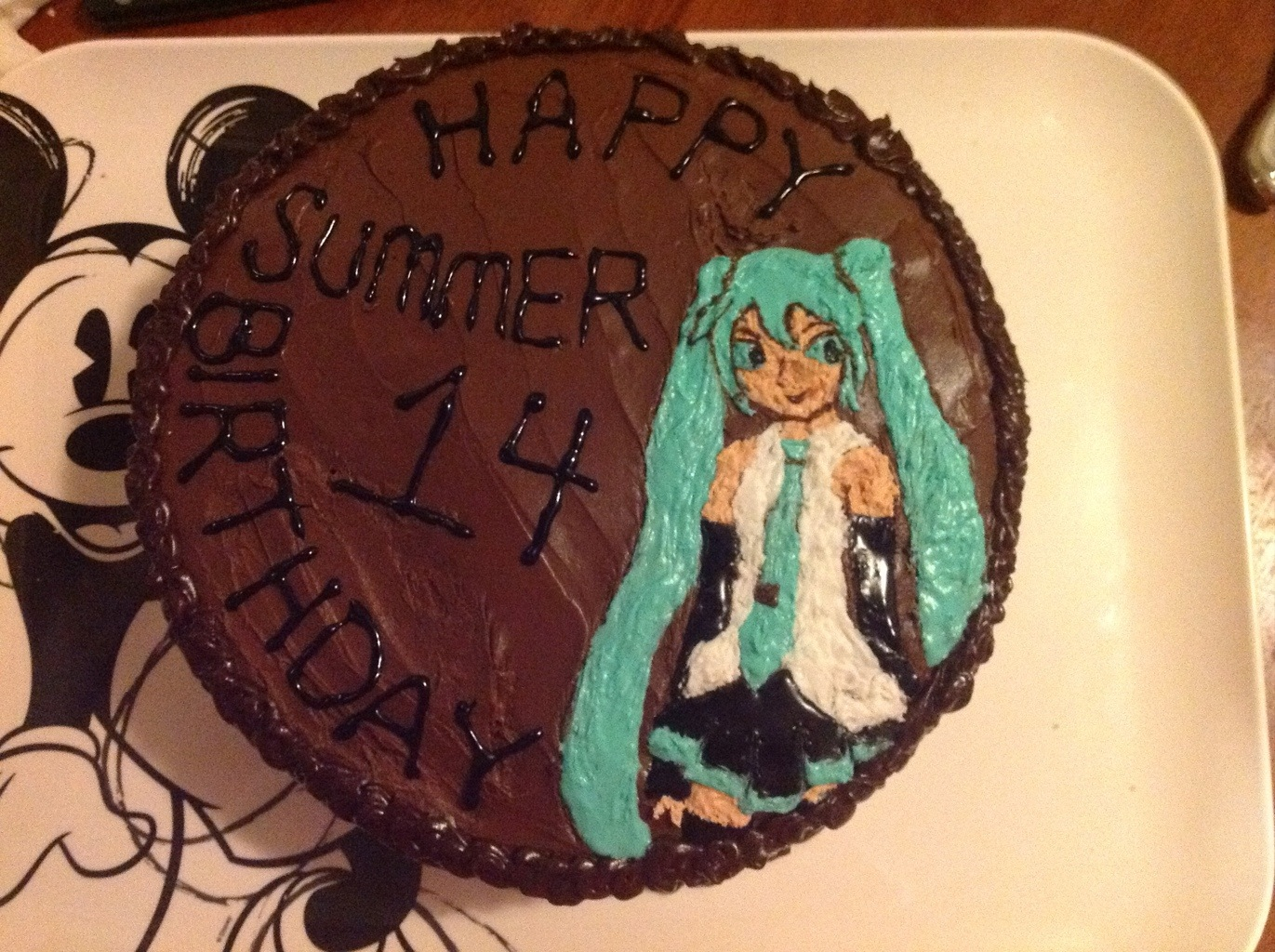 Showing Off Hatsune Miku Cake Android In The Kitchen